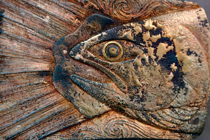 fish engraving